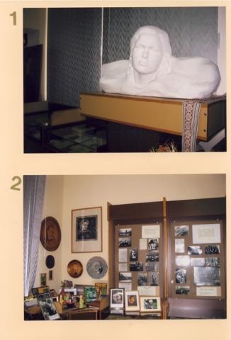 1. S. Nėries Biustas (skulpt. J. Naruševičius 1981 m.); 2. S. Nėries gimtinė, mokytojos darbas Panevėžyje, dovanos muziejui