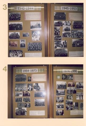 3. Gimnazija 1940-1944 m., 1945-1953 m. 4. Mokykla 1954-1973 m., 1974-1990 m.