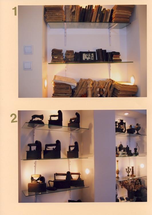 1. Senos knygos ir maldaknygės; 2. Lygintuvai, lempos